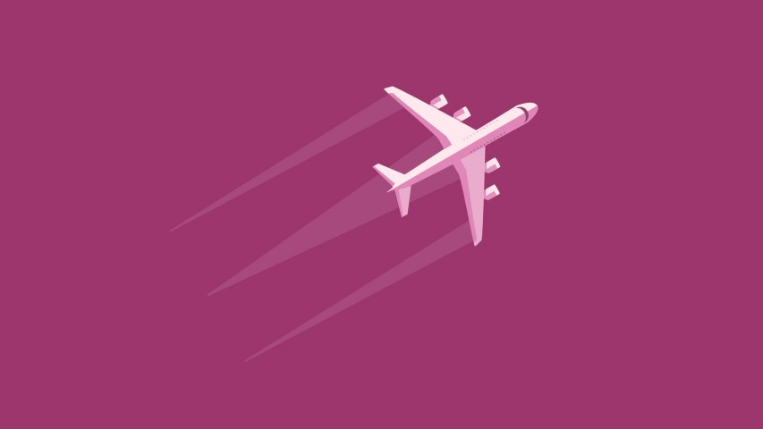 flat design airplane