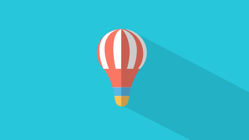 flat design balloon