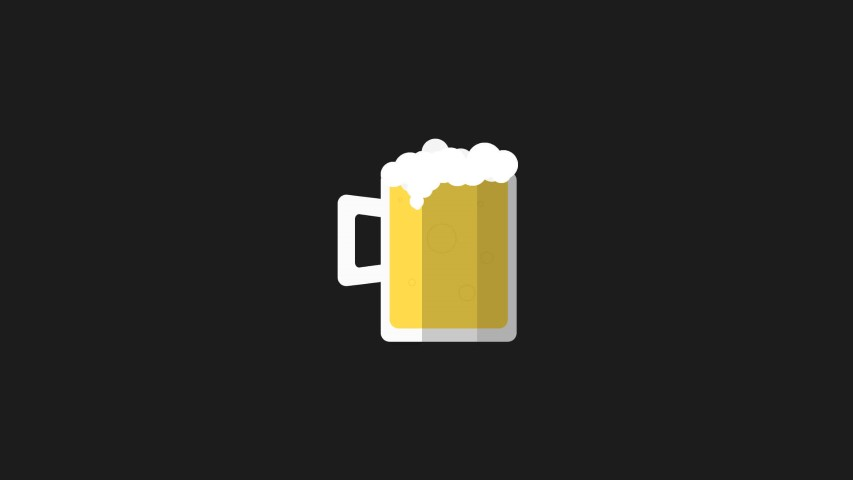 flat design beer