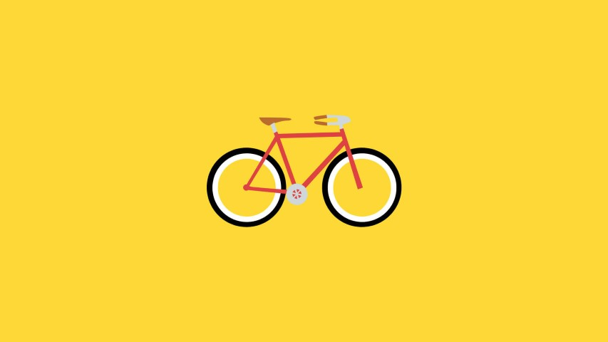 flat design bicycle