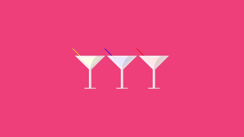 flat design drinks