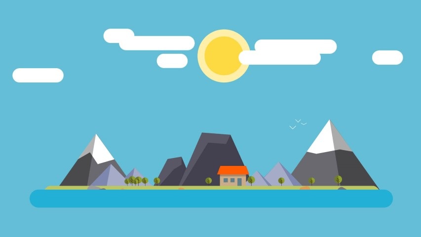 flat design mountains