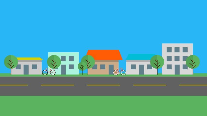 flat design town