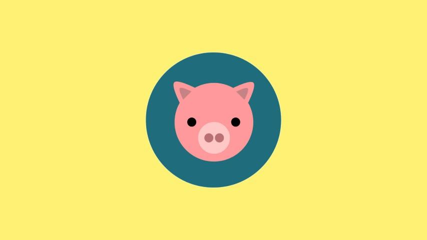 flat design pig