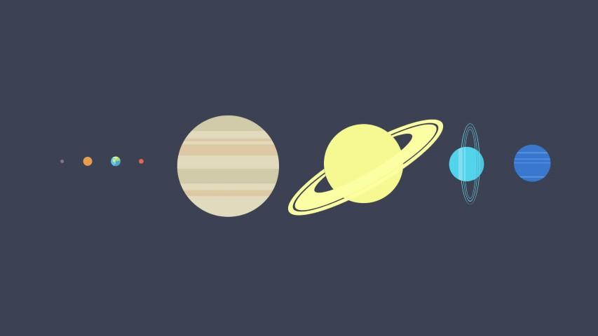 flat design planets