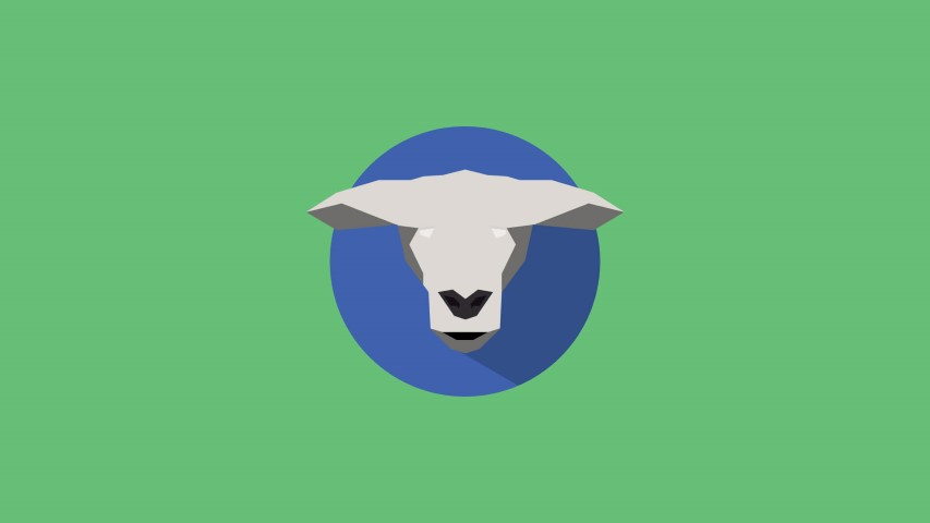 flat design sheep