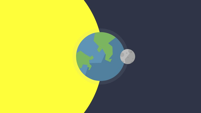 flat design space earth