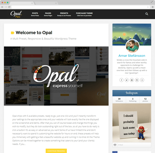 Opal | Multi Preset Responsive WordPress Theme