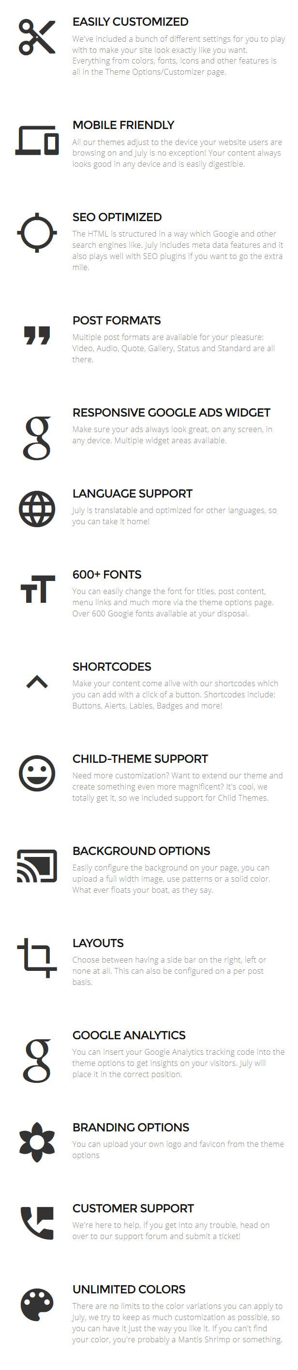 July | Simple & Elegant WordPress Blog Theme
