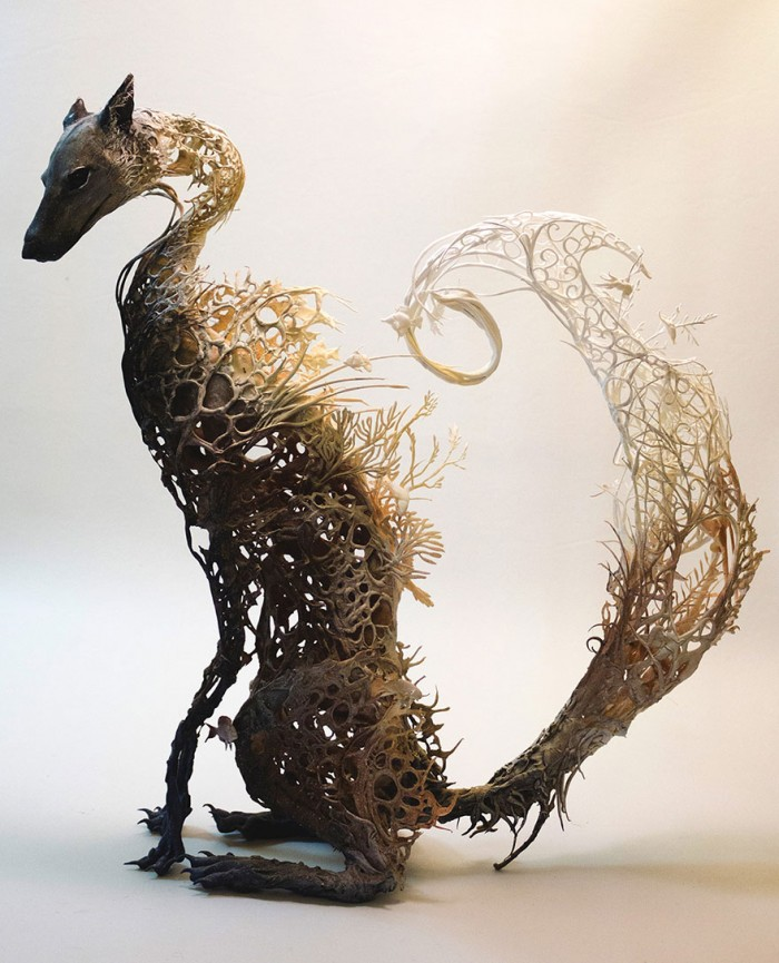 Ellen Jewett Merges Animals And Plants In To Otherworldly Sculptures