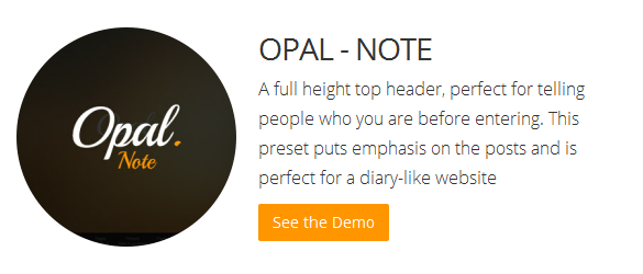 Bluthemes - Opal Note